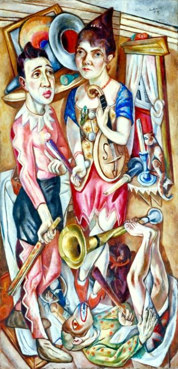 Carnival 1920 by Max Beckmann 1884-1950