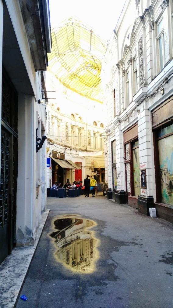 old town street in Bucharest